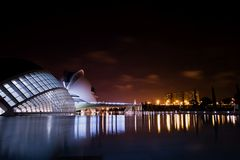 Abstract building. An abstract an modern building in valencia Royalty Free Stock Photos