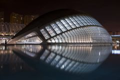 Abstract building. An abstract an modern building in valencia Royalty Free Stock Image