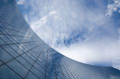 Abstract building background. Against sky and clouds stock photography
