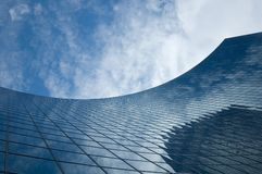 Abstract building background. Against sky and clouds Royalty Free Stock Photos