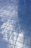 Abstract building background /. Reflection on the blue glass stock photo