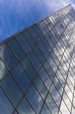 Abstract building background /. Reflection on the blue glass stock images