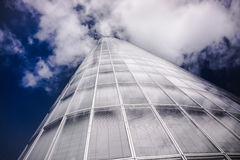 Abstract building. blue glass wall of skyscraper.  Royalty Free Stock Image