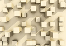 Abstract of building box Royalty Free Stock Images