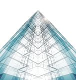 Abstract building concept. 3d rendering Stock Photos