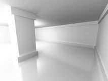 Abstract Building Construction. Corridor Wall Background Stock Photography