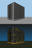 Abstract building. Day and night Stock Photo