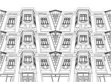 Abstract Building Eclectic House Vector 01 Royalty Free Stock Image