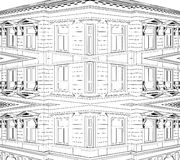 Abstract Building Eclectic House Vector 05 Royalty Free Stock Photo