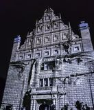 Abstract building facade - Bella Skyway Festival - International Light Festival in Torun. Poland royalty free stock image