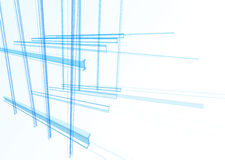 Free Abstract Building From The Lines Royalty Free Stock Images - 57384689