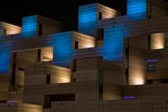 Abstract Building Lights. Abstract image of a building with a blue lights Stock Image