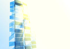 Abstract building from the lines Stock Photography