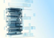 Abstract building from the lines Royalty Free Stock Image