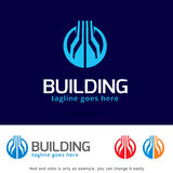 Abstract Building Logo Template Design Vector. This design suitable for logo or icon. Color and text can be changed easily stock illustration