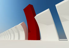 Abstract building of red structure isolated Stock Photography