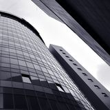 Abstract building skyscrapers. S of business center in square composition Royalty Free Stock Image