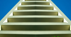 Abstract Building or Steps Stock Photo
