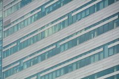 Abstract Building Wall in Portland, Oregon. This is a diagonal image of an office building wall in Portland, Oregon royalty free stock images
