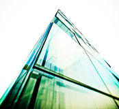 Abstract building white isolated Stock Photo
