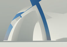 Abstract building of white structure Royalty Free Stock Photos