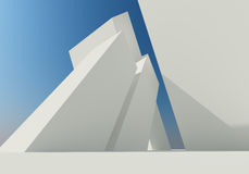 Abstract building of white structure Stock Photography