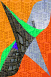 Abstract buildings. An illustration on the theme of the abstract architecture Stock Image