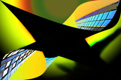 Abstract buildings. An illustration on the theme of the abstract architecture vector illustration