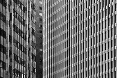 Abstract Buildings. A black and white abstract shot of three buildings Stock Images