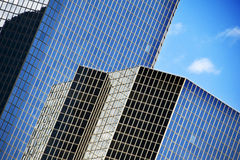 Abstract buildings. Glass buildings in a business center - abstract design Royalty Free Stock Image