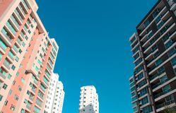Abstract buildings in Barranquilla city royalty free stock images