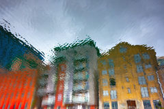 Abstract buildings reflections Stock Photo
