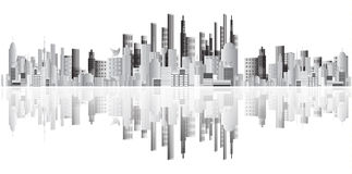 Abstract buildings vector Royalty Free Stock Image