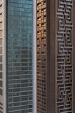 Abstract Buildings that View from Above in Sheikh Zayed Road, Dubai Stock Photo