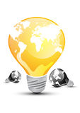 Abstract bulb concept. Abstract bulb for energy saving concept Royalty Free Stock Photo