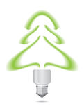 Abstract bulb - with pine tree Royalty Free Stock Image