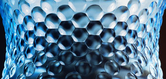 Abstract bulge background. Abstract blue bottle with bulge background stock photo
