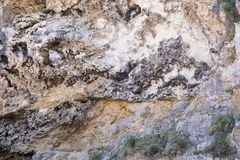 Abstract bumpy texture of the mountain rock Royalty Free Stock Photos
