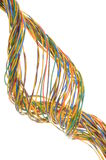 Abstract bunch of colored twisted wires Royalty Free Stock Images