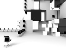 Abstract bureau Royalty-vrije Stock Afbeelding