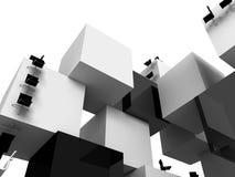 Abstract bureau Stock Afbeelding