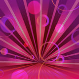 Abstract burgundy background with circles and. Radiating, eps 10 Royalty Free Stock Images