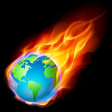Abstract burning earth Royalty Free Stock Photos