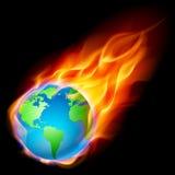 Abstract burning earth Royalty Free Stock Photos