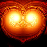 Abstract burning heart Royalty Free Stock Photography
