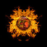 Abstract burning planet Royalty Free Stock Photo