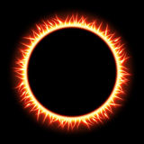 Abstract burning star circle view. EPS 10. Vector file included Stock Photo