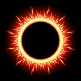 Abstract burning star circle view. EPS 10 Royalty Free Stock Photography