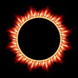 Abstract burning star circle view. EPS 10 Stock Photos