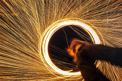 Abstract Burning steel wool fireworks Royalty Free Stock Photos